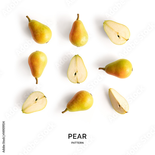 Seamless pattern with fruits Fototapeta