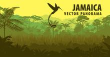 Vector Panorama Of Jamaica Wit...