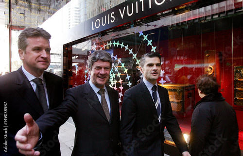 0ad47b717c3 Chairman and CEO of Louis Vuitton Malletier Yves Carcelle, Managing ...