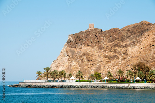 Fotobehang Midden Oosten Fort na skale w Muscat.