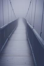 Alone One Mile High On Grandfather Mountain Suspension Bridge