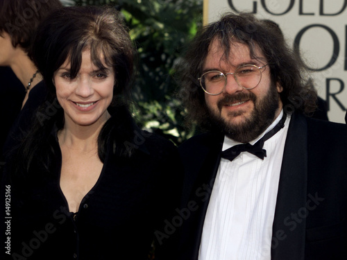 LORD OF RINGS DIRECTOR PETER JACKSON AND WIFE ARRIVE FOR