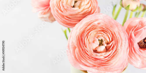 Fotografía Beautiful pink ranunculus bouquet