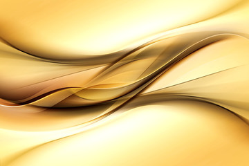 Gold modern bright waves art. Blurred pattern effect background. Abstract creative graphic template.