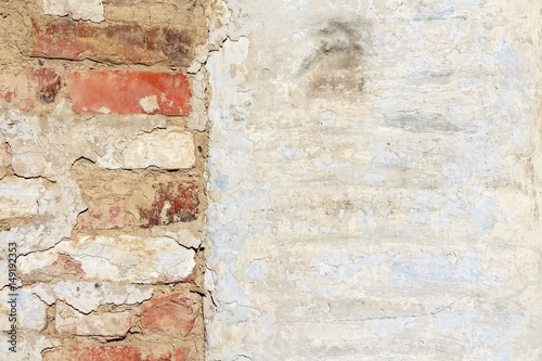 Plaster textured background of old weathered wall Wallpaper Mural