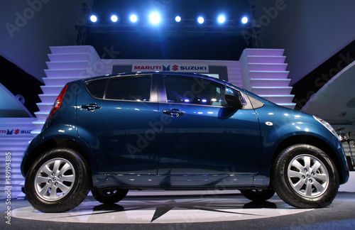 The New Ritz Car Stands On A Display During Its Launch In New Delhi - Car show display stand for sale