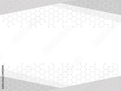 Abstract  business background with structure of hexagonal elements Canvas Print