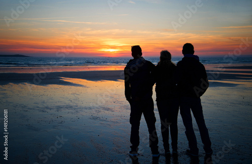 Canvas Print Den Sonnenuntergang am Strand genießen