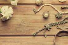 Antique Vintage Necklace On Wo...