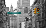 Fototapeta Nowy Jork - West Broadway street sign in New York, USA
