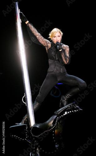 US pop artist Madonna performs...