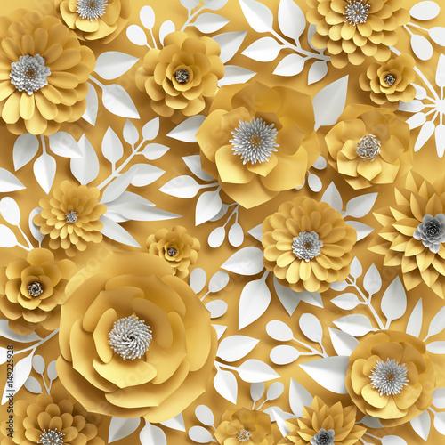 zolte-kwiaty-3d