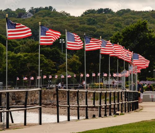 Fotografie, Obraz  Curve of Flags