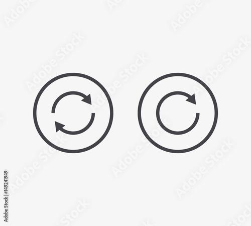 Obraz na plátně  Refresh Line Icon. Editable Stroke.