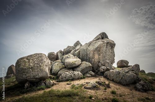Rocks formations in Dobrogea, Tulcea county, Romania Canvas Print