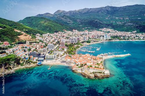 Photo Stands Egypt Budva, Montenegro. Aerial view.