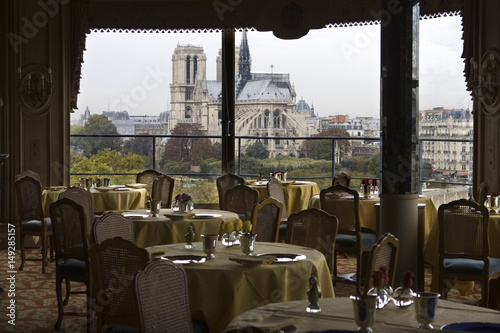 General View Of The Tour D Argent Restaurant Near Notre Dame Cathedral In Pari