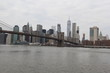 Manhattan skyline with brooklyn bridge