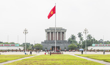 HANOI, VIETNAM - SEPTEMBER 2: Visitors At The Ho Chi Minh Mausoleum During Vietnam's National Day On September 2, 2015 In Hanoi, Vietnam