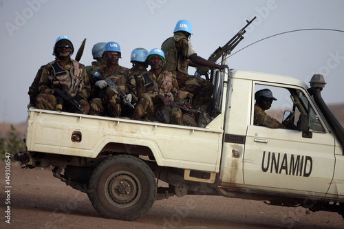 Nigerian peacekeeping soldiers from the United Nations