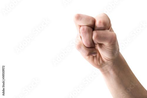 Fotografia  mano con dita incrociate