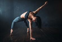 Flexible Woman Dancing In Studio