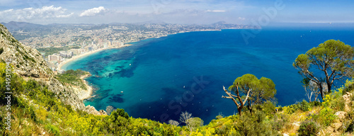 Photo Panoramic landscape of Calpe