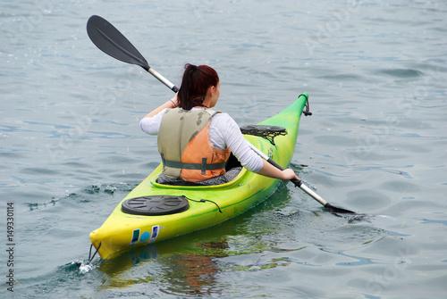 Fotografie, Obraz  Canottaggio sul lago d'Iseo