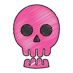 skull icon over white background. vector illustration
