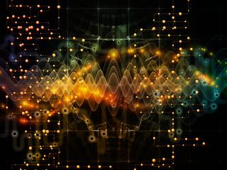 Fototapeta na wymiar Data Flow Processing
