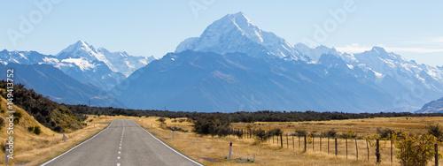 Cuadros en Lienzo Route Richtung Mount Cook