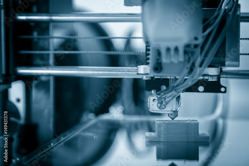 Fotografia  Electronic three dimensional plastic printer during work , 3D , printing