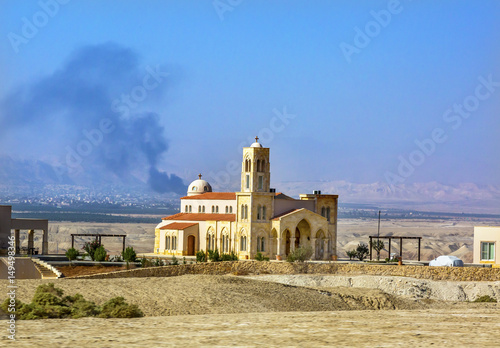 Photo New Christian Church Jesus Baptism Site Bethany Beyond Jordan