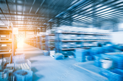 industrial warehouse of abstract background