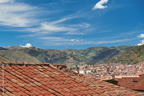 Red old tile roof