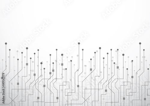 Fototapeta Digital technology world. Business virtual concept connection. Vector Illustration obraz