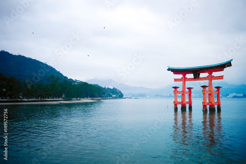 The great O-Torii of Itsukushima Shrine