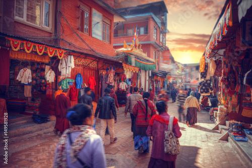 Fotografie, Obraz  streets of Kathmandu