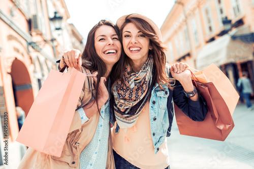 Plakat Przyjaciele na zakupach