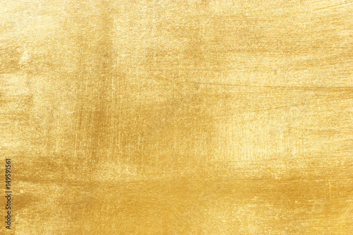 Fotografia Shiny yellow leaf gold foil texture