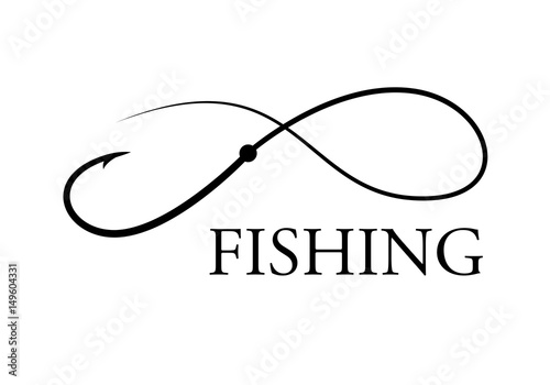 Fotografie, Obraz  graphic fishing hook, vector