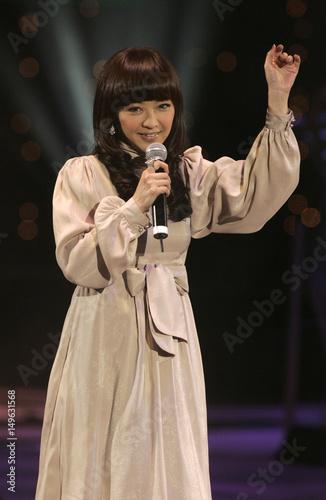 Hong Kong singer Priscilla Chan during a presentation in