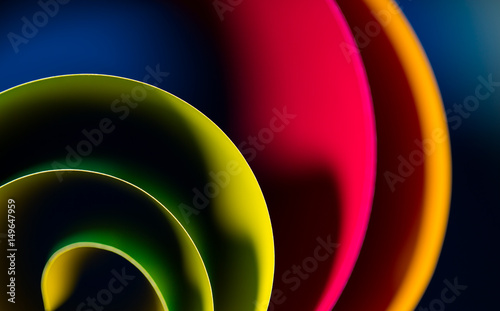abstract art of colorful, blur blue background and highlight to line. Gradient color is