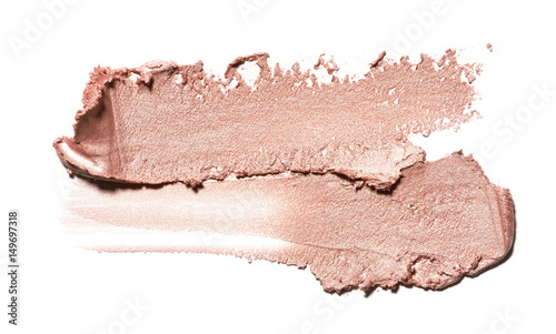 Fotografía  smear paint of cosmetic and beauty products. make up accessories