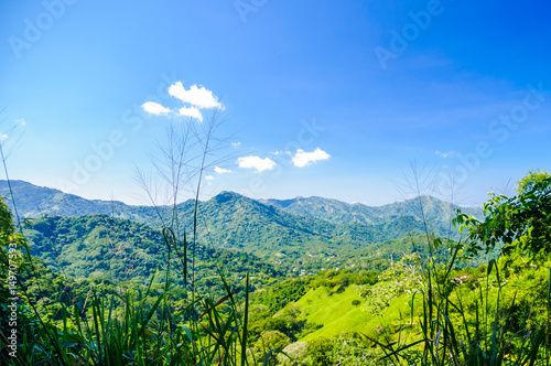Fotografie, Obraz  View on mountain landscape by Minca in Colombia