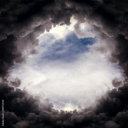 Photo Hole in the Dramatic Clouds