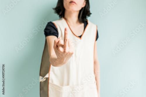 Fotografie, Obraz  不機嫌な女性労働者