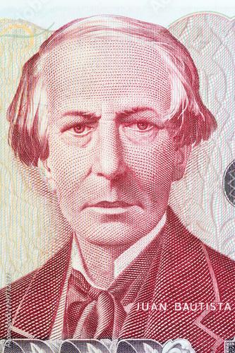 Juan Bautista Alberdi portrait from Argentinian money Wallpaper Mural