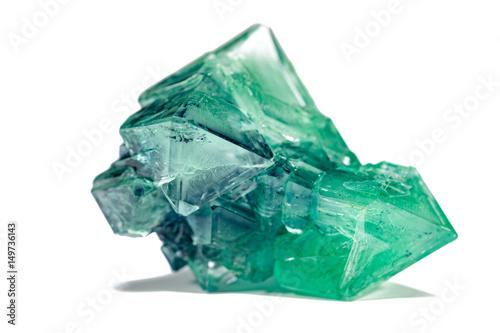 Photo green crystal mineral