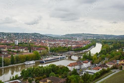 Foto op Aluminium Ausblick von der Festung auf Würzburg